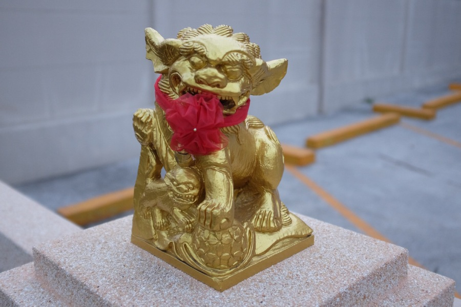 Red on Gold Lion