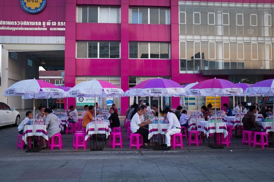 Bangkok street photography Pink
