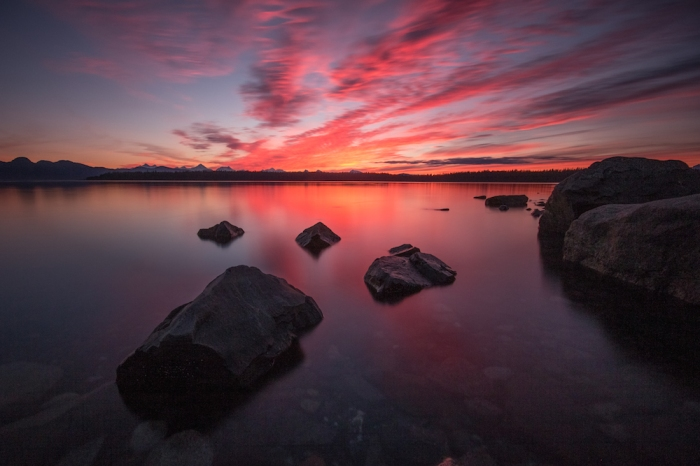 Glacier Bay Sunset Long Exposure