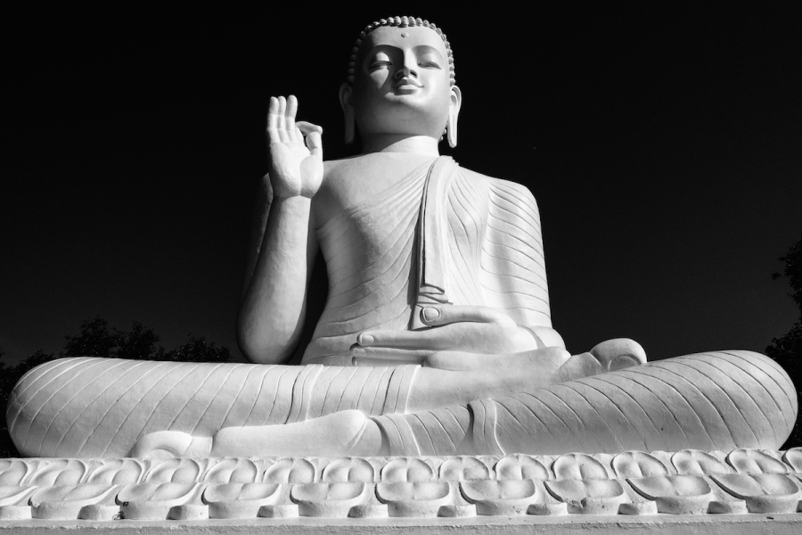 Buddha black and white