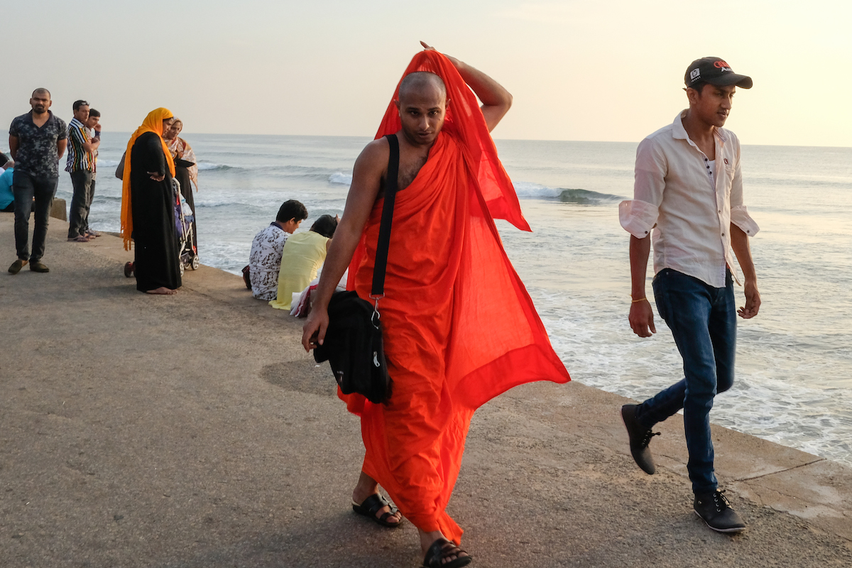 Monk at Galle Face Green