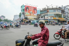 Man on motorbike with cigarette