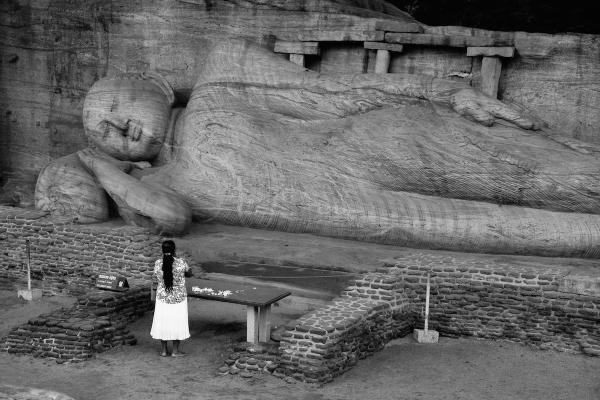 Buddha and woman
