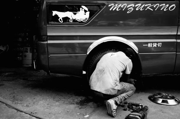 Sri Lanka Street Photo black white