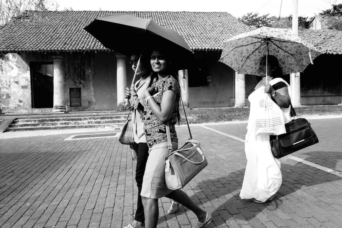 Sri Lanka street photo umbrella