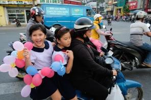 Kids on a motorbike