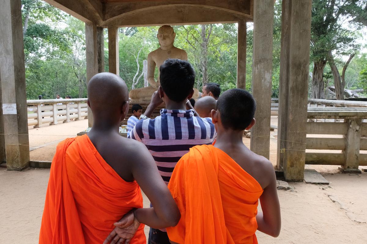 Monks and buddha