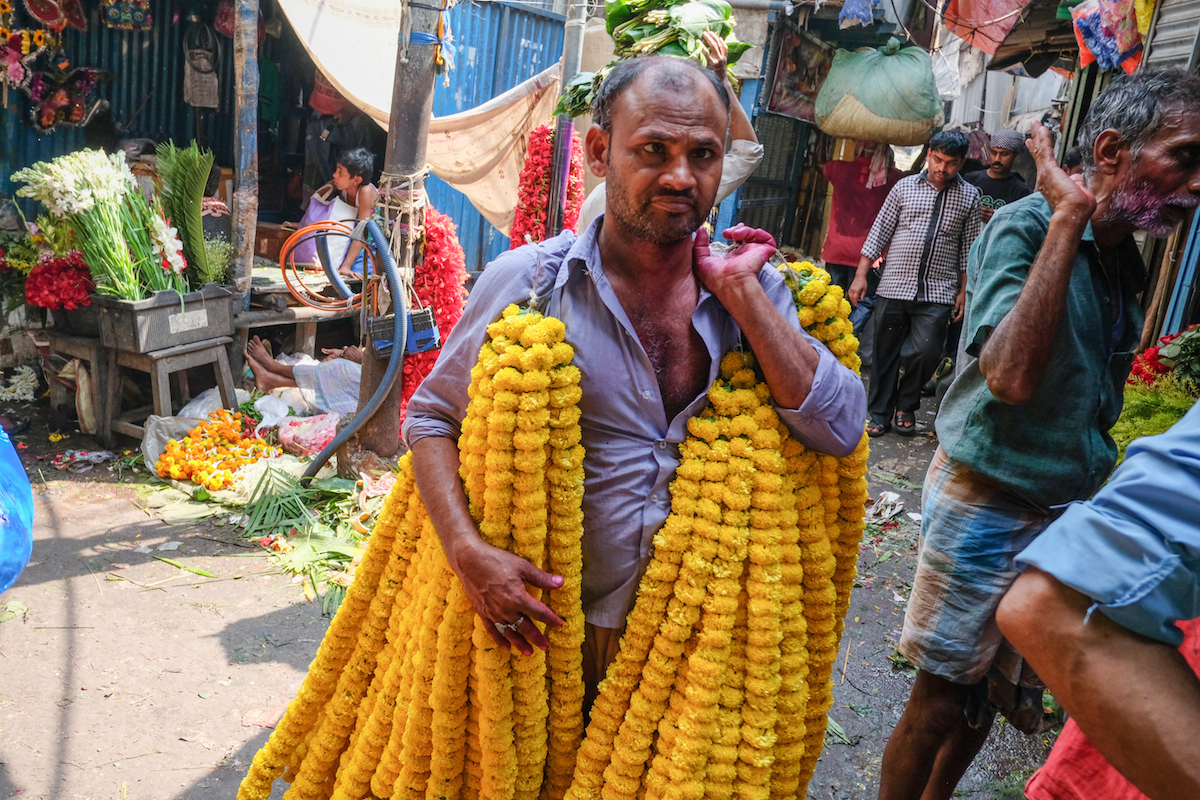 Malik Ghat Flower Vendor