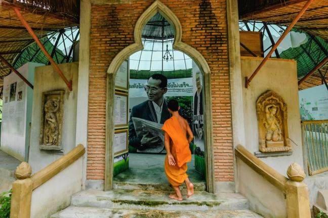 King Bhumibol Monk