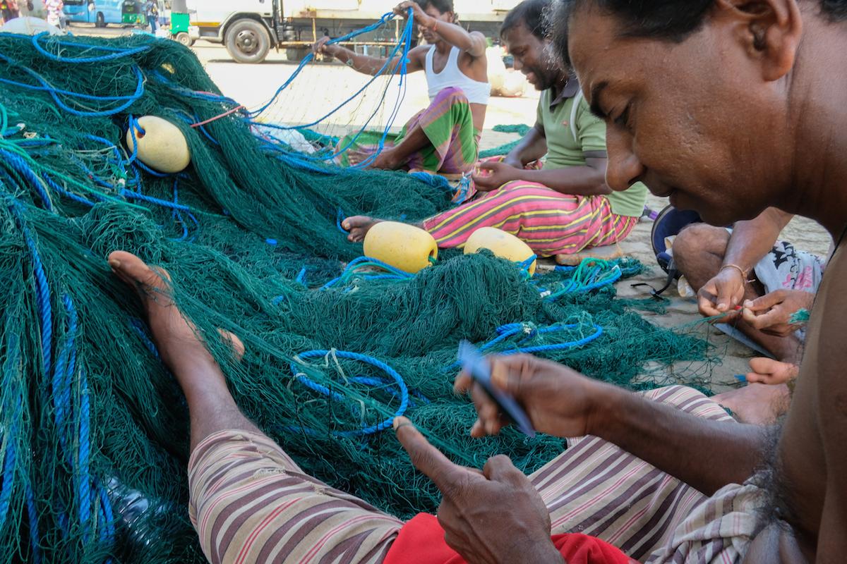 Fishermen in Galle