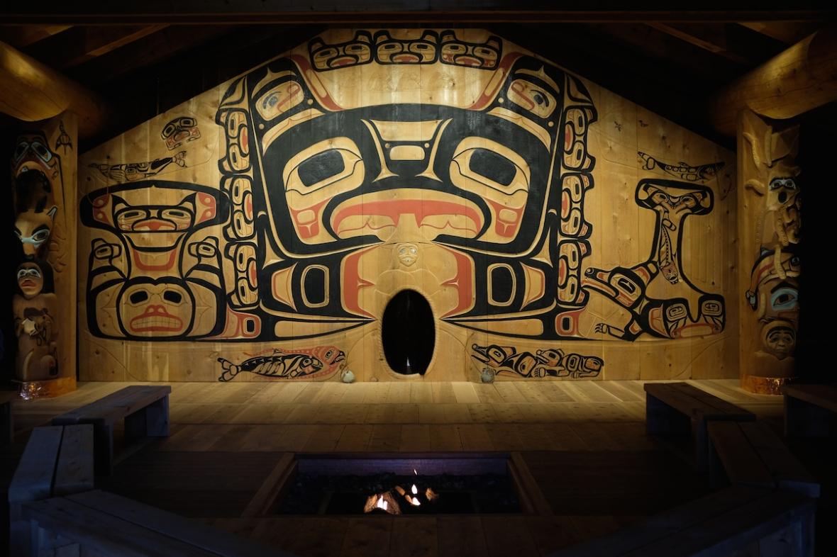 Glacier Bay Tribal House Interior