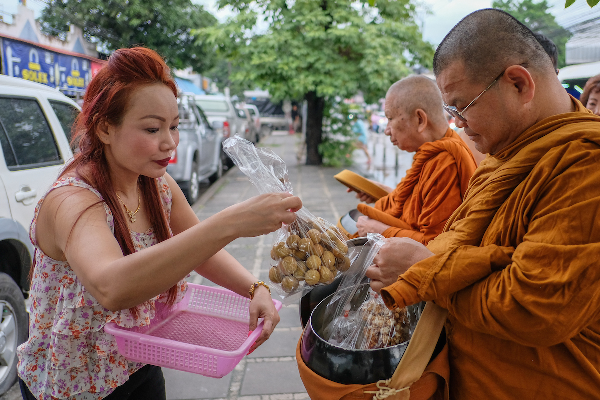 Bangkok Alms Collecting