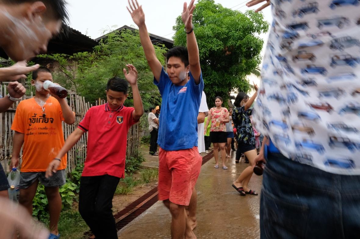 Songkran dancing in the streets