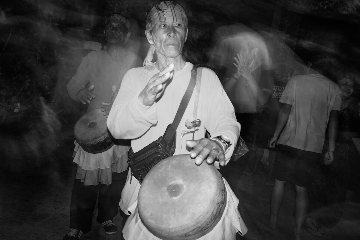 Songkran in Black and White drummer