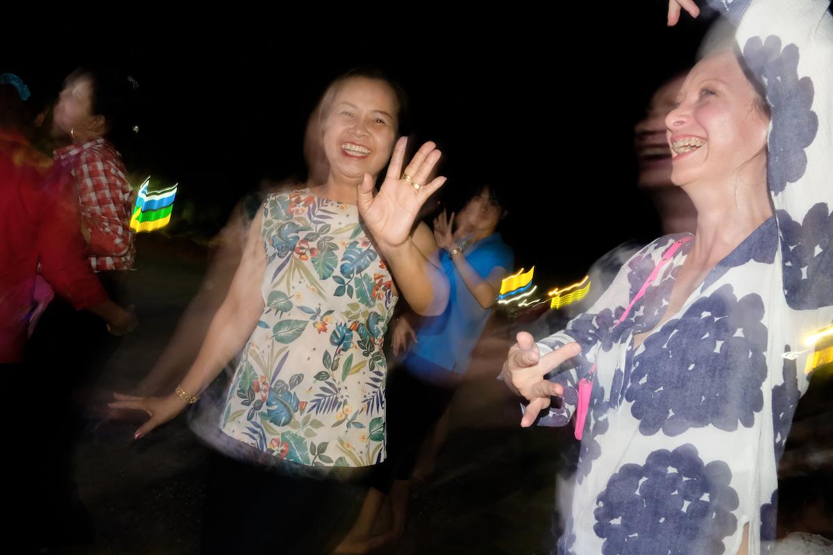 Pat and Kristi dancing at the concert.