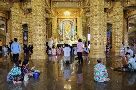 Songkran temple