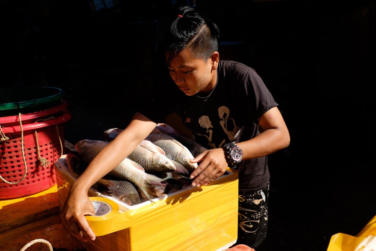 San Pya Market Fish