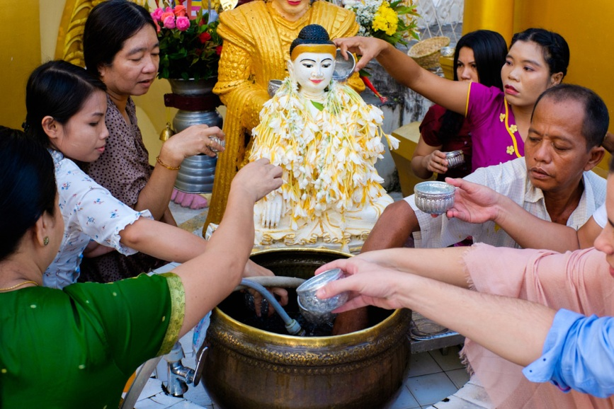 Shwedagon Pagoda Buddha Water