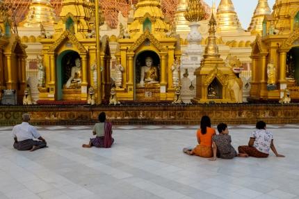 Shwedagon Pagoda street photography