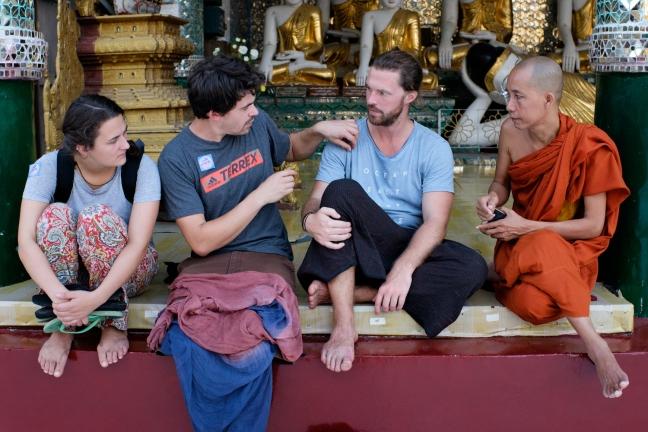 Shwedagon Pagoda Tourists