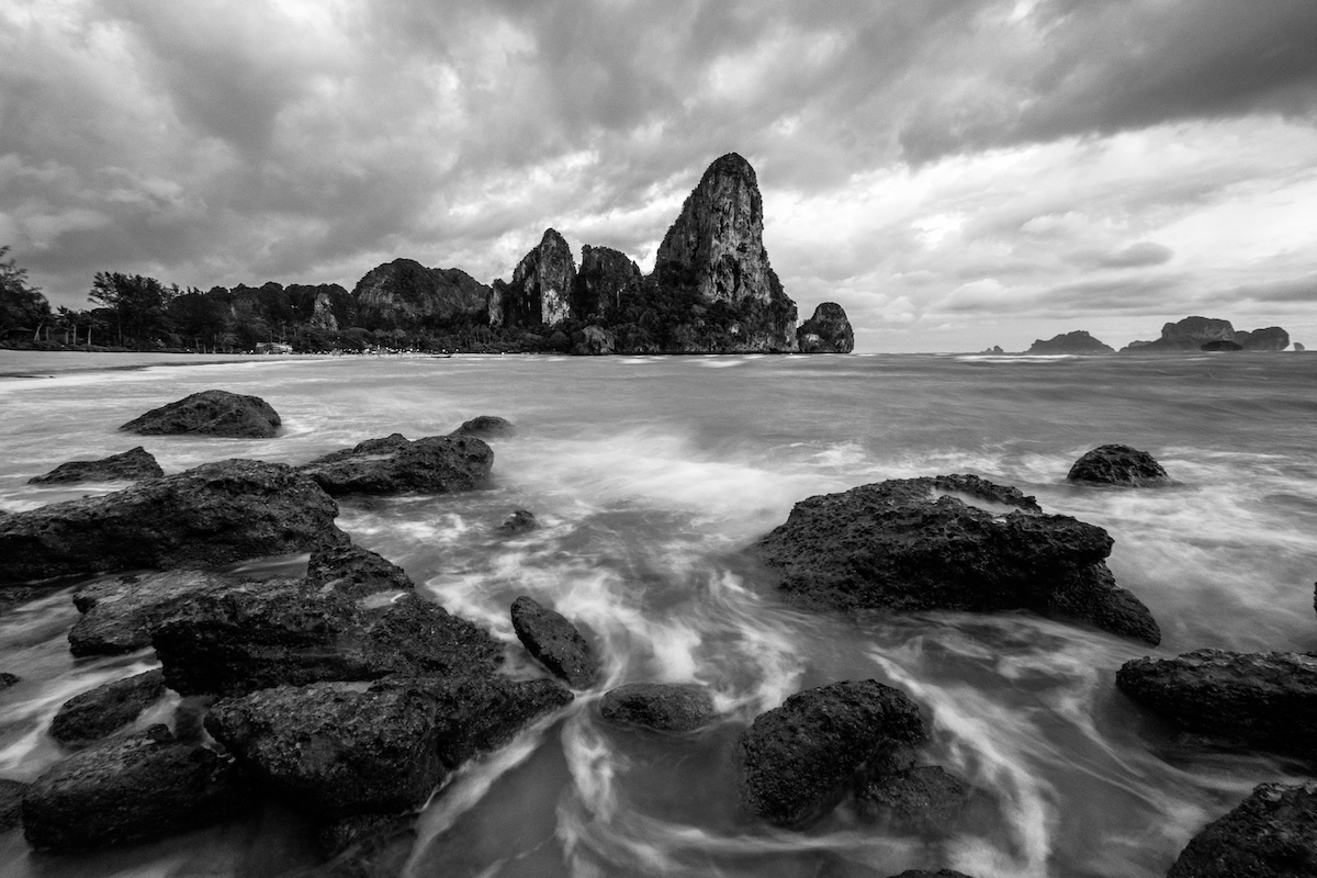 Railay Beach Black and White