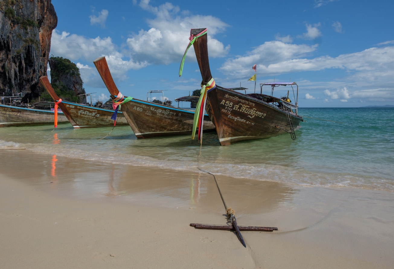 Railay Beach Thailand Long Tail Boat