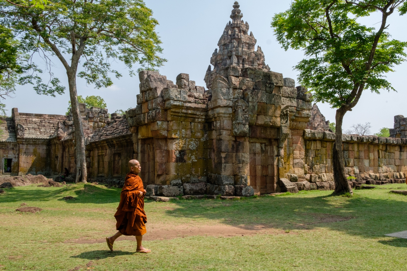 Thailand Monk at Phanom Rung