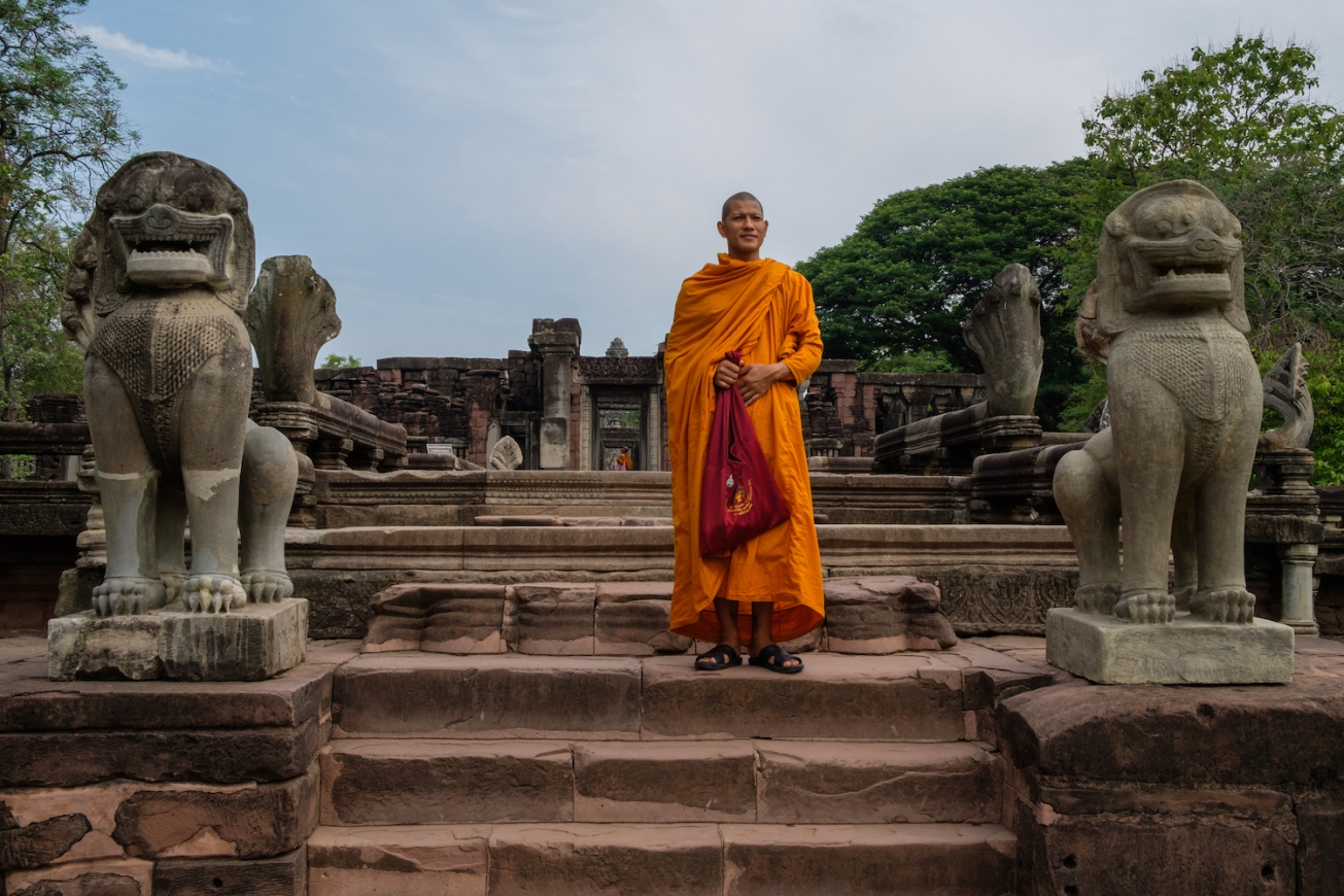 Thailand Monk at Phimai