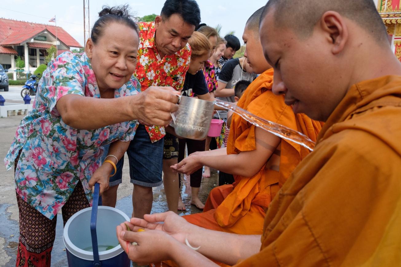 Thailand Monk Songkran Festival