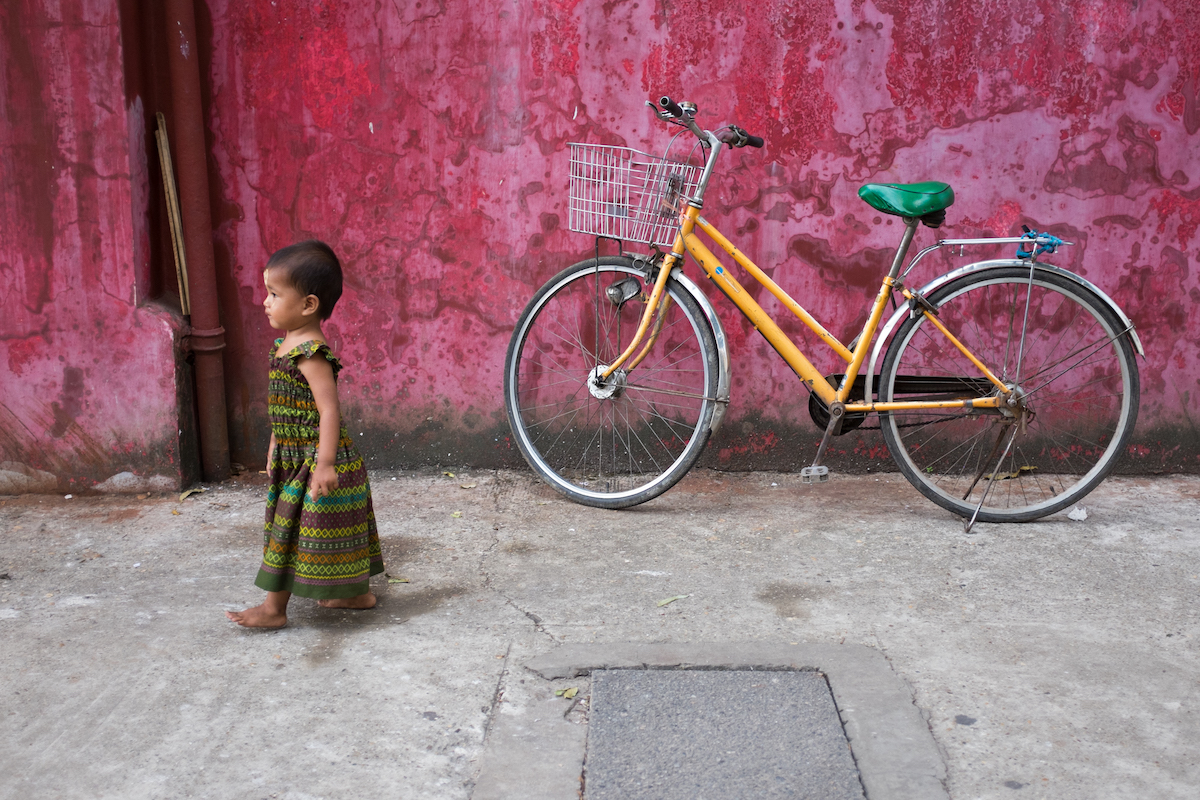 Yangon Street Photography Pink