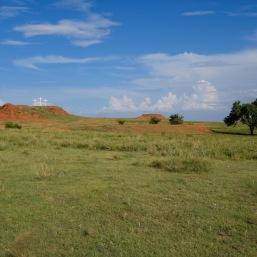 Three crosses on a hill Oklahoma