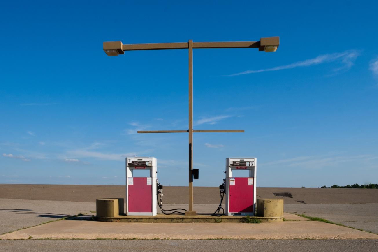 Colorful fuel pumps