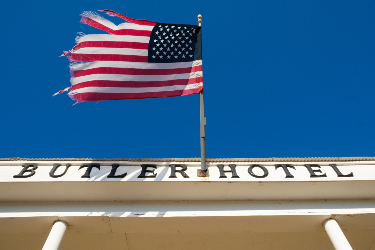 American Flag at hotel