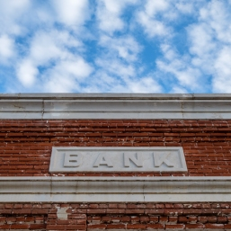 Old bank sign