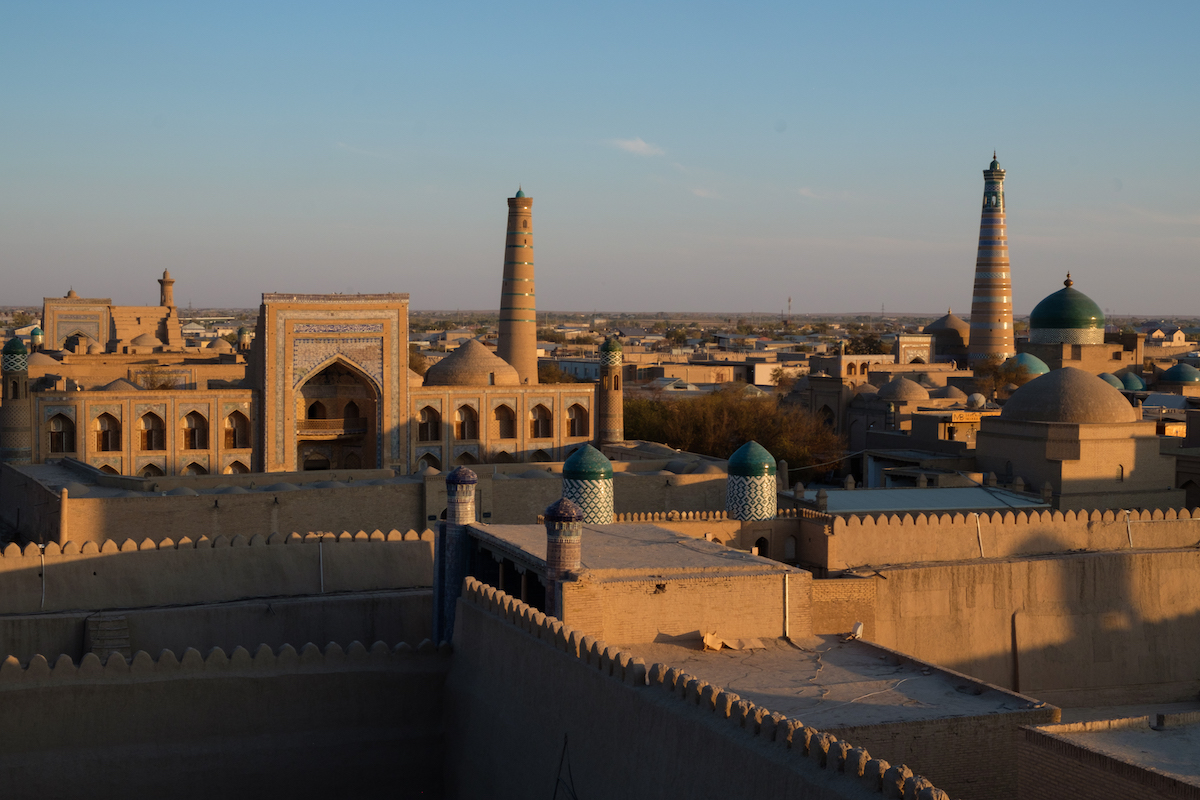 Khiva city walls view