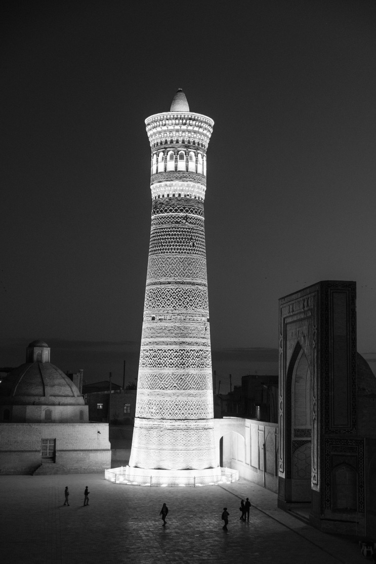 Bukhara at Night in Black and White