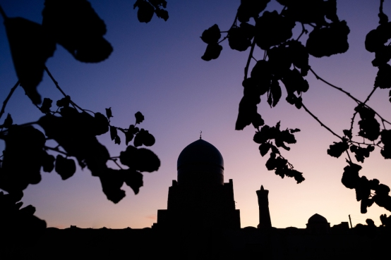 Bukhara at sunrise.