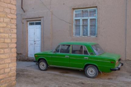 car in Khiva, Uzbekistan