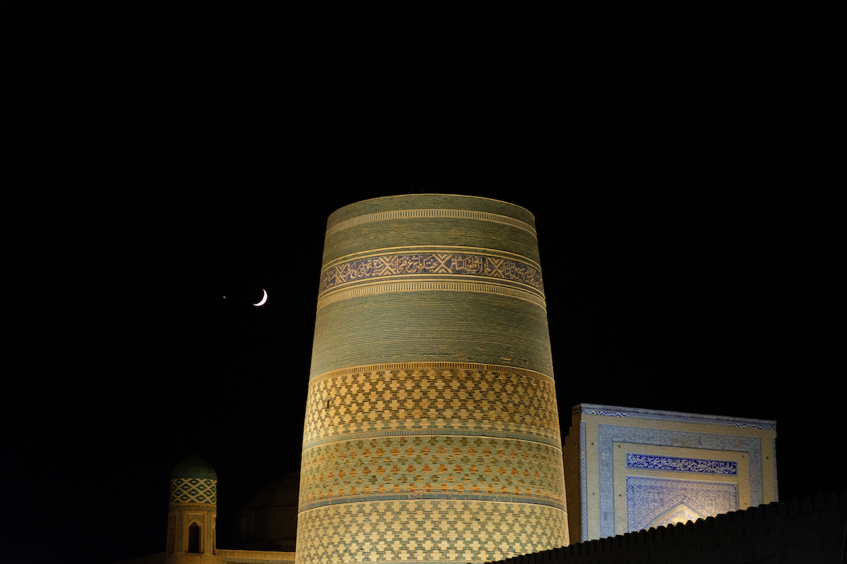 Khiva at night