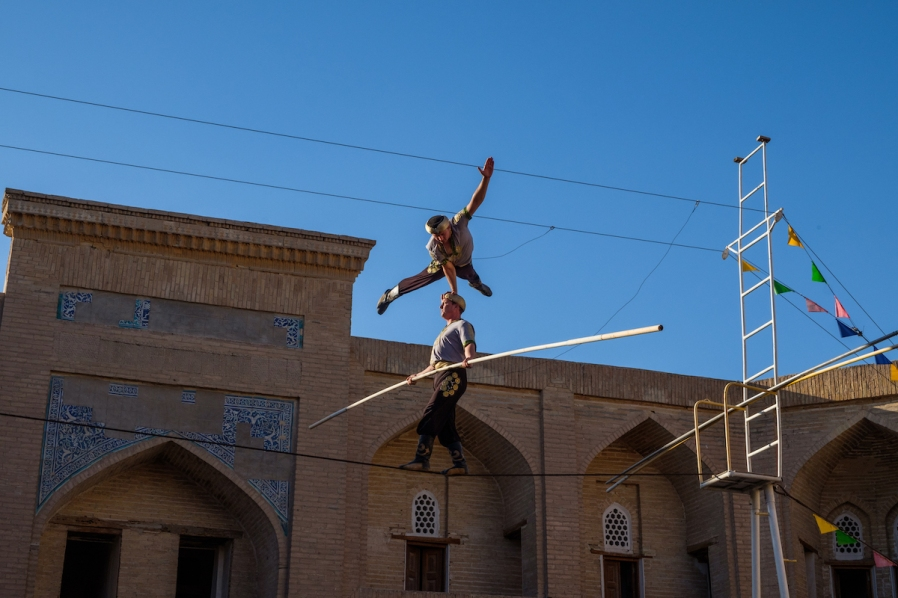 Acrobats in Khiva