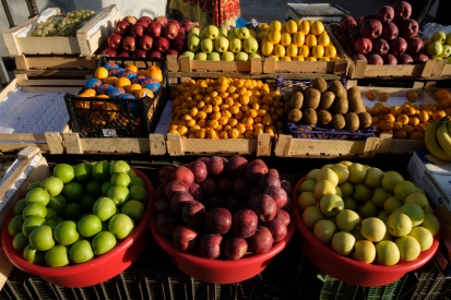 You can buy fresh fruit in the markets.