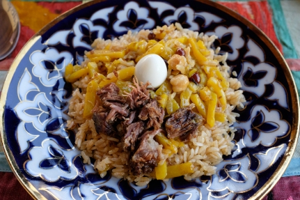 Plov - the national dish of Uzbekistan.