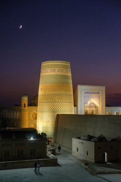 View from the Terrassa Cafe in Khiva.