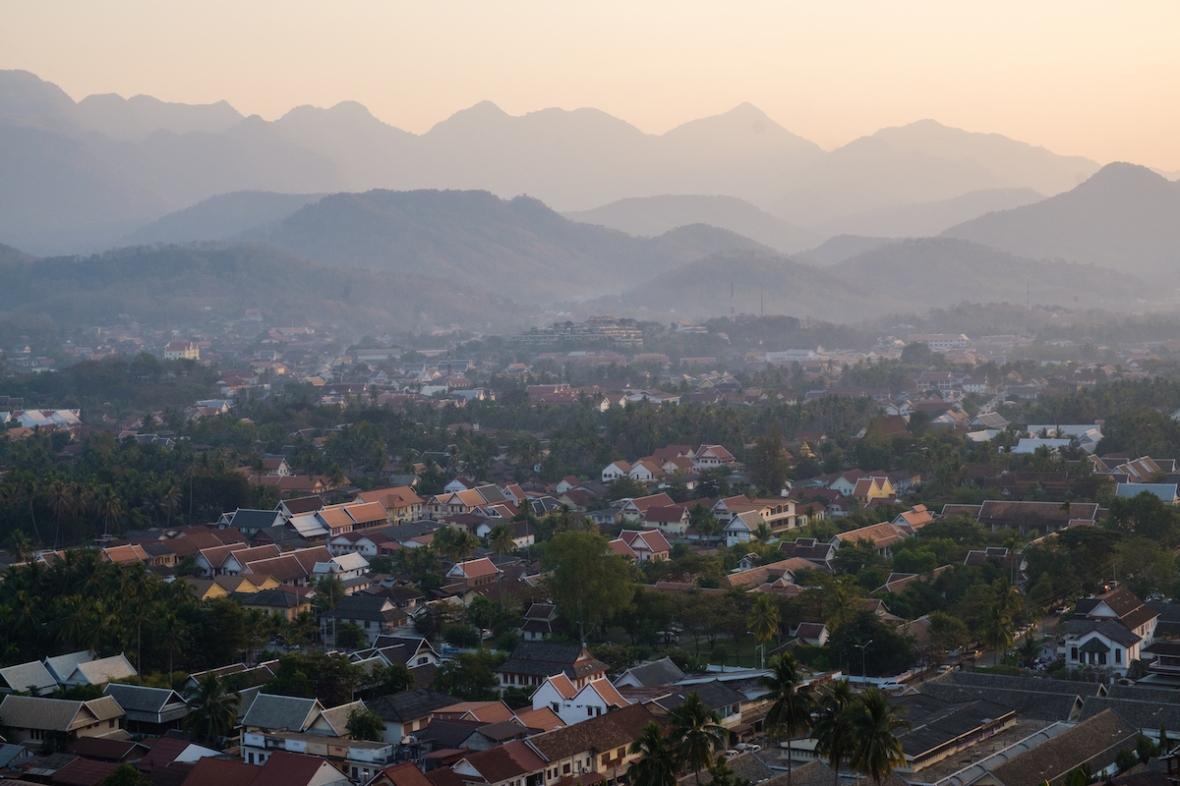 Luang Prabang from Mt. Phousi.